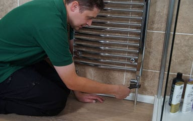 Radiator installation by our expert engineers
